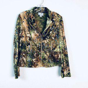 Joseph Ribkoff crushed velvet snakeskin jacket